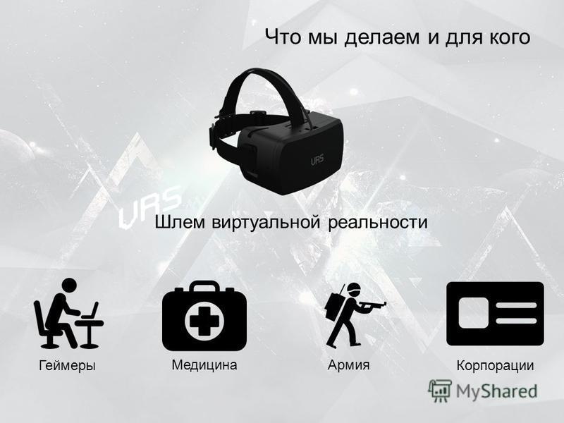 Что мы делаем и для кого Шлем виртуальной реальности Геймеры Медицина Армия Корпорации