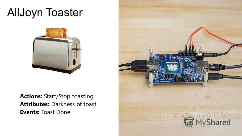 AllJoyn Toaster