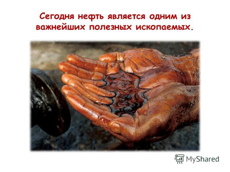 Сегодня нефть является одним из важнейших полезных ископаемых.