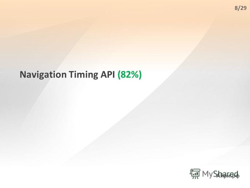 Navigation Timing API (82%) Айри.рф 8/29