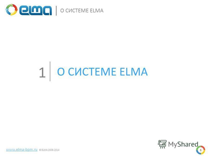 О СИСТЕМЕ ELMA 1 www.elma-bpm.ru © ELMA 2006-2014 3
