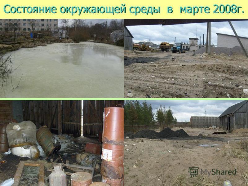 Состояние окружающей среды в марте 2008 г.