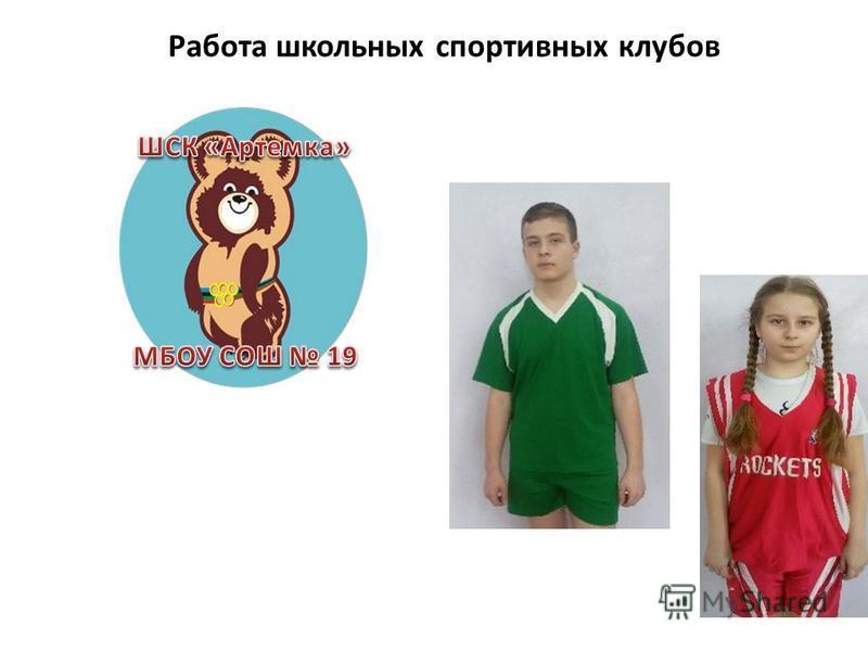 Работа школьных спортивных клубов