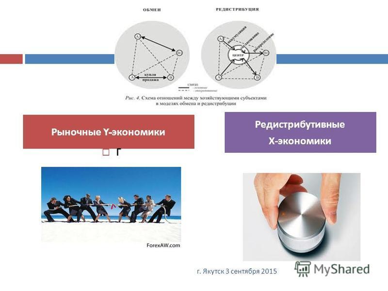 Рыночные Y- экономики Редистрибутивные Х - экономики 21 г. Якутск 3 сентября 2015 г