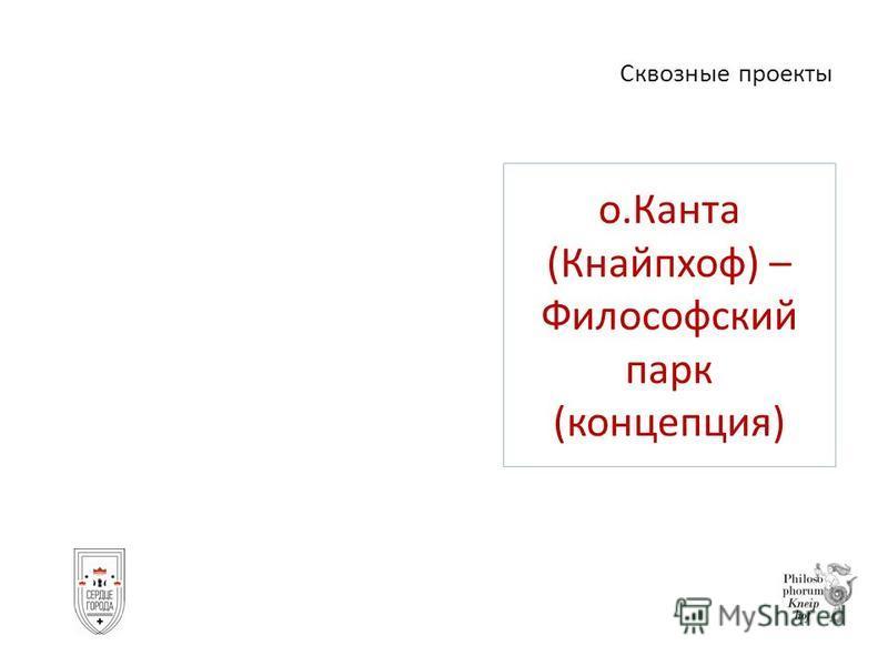 о.Канта (Кнайпхоф) – Философский парк (концепция) Сквозные проекты