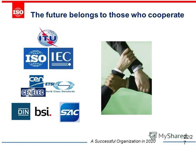 The future belongs to those who cooperate A Successful Organization in 2020 22/2 7