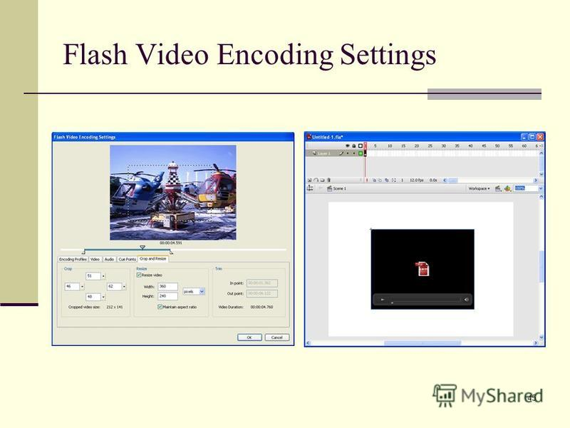45 Flash Video Encoding Settings