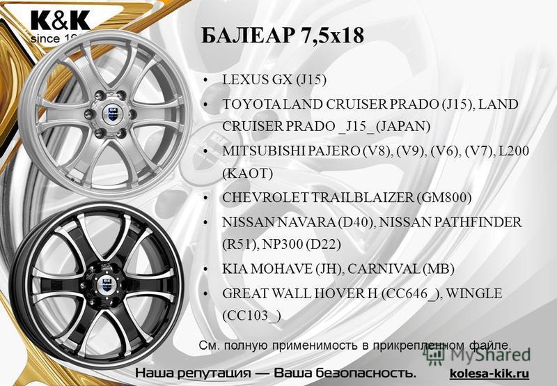 LEXUS GX (J15) TOYOTA LAND CRUISER PRADO (J15), LAND CRUISER PRADO _J15_ (JAPAN) MITSUBISHI PAJERO (V8), (V9), (V6), (V7), L200 (KAOT) CHEVROLET TRAILBLAIZER (GM800) NISSAN NAVARA (D40), NISSAN PATHFINDER (R51), NP300 (D22) KIA MOHAVE (JH), CARNIVAL