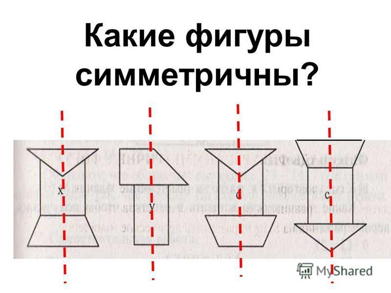 Какие фигуры симметричны?