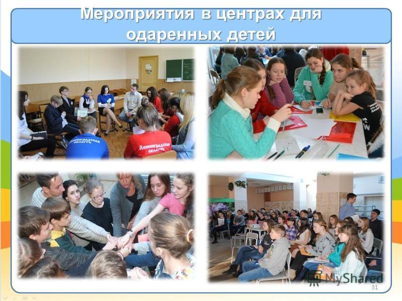 Мероприятия в центрах для одаренных детей 31