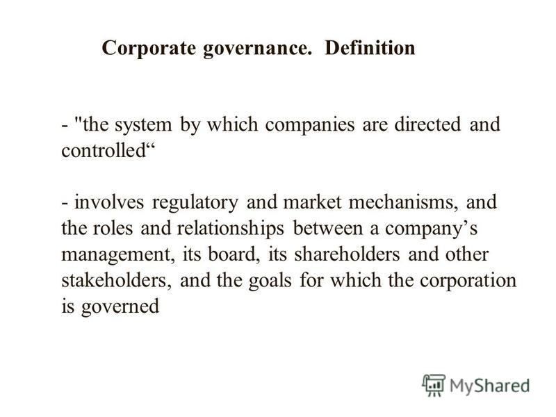 corporate governance mechanisms and extent of Say on pay effectiveness, corporate governance mechanisms  this reasoning increases at the extent on which of corporate governance mechanisms–board and.