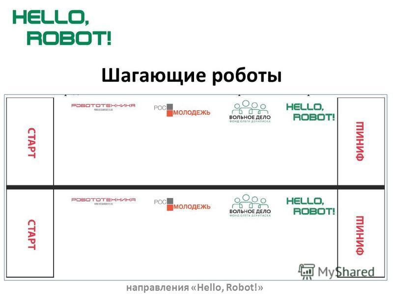 Шагающие роботы Презентация составлена по материалам правил Всероссийского робототехнического фестиваля – «Робо Фест 2014» направления «Hello, Robot!»