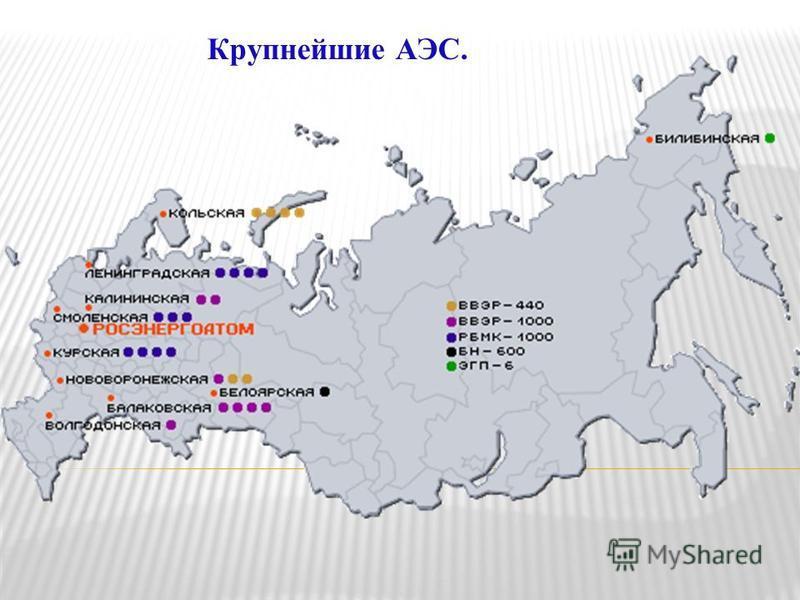 Крупнейшие АЭС.