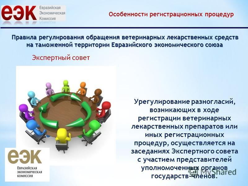 Правила регулирования обращения ветеринарных лекарственных средств на таможенной территории Евразийского экономического союза Урегулирование разногласий, возникающих в ходе регистрации ветеринарных лекарственных препаратов или иных регистрационных пр