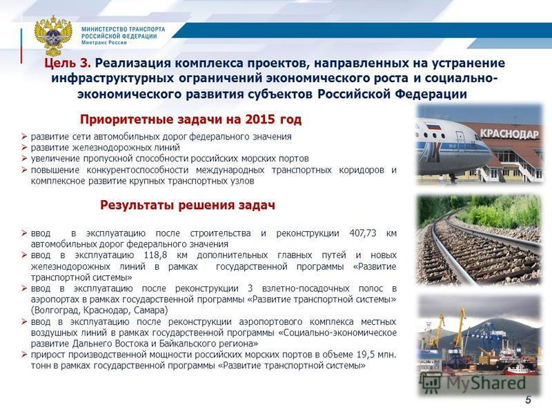 55 развитие сети автомобильных дорог федерального значения развитие железнодорожных линий увеличение пропускной способности российских морских портов повышение конкурентоспособности международных транспортных коридоров и комплексное развитие крупных