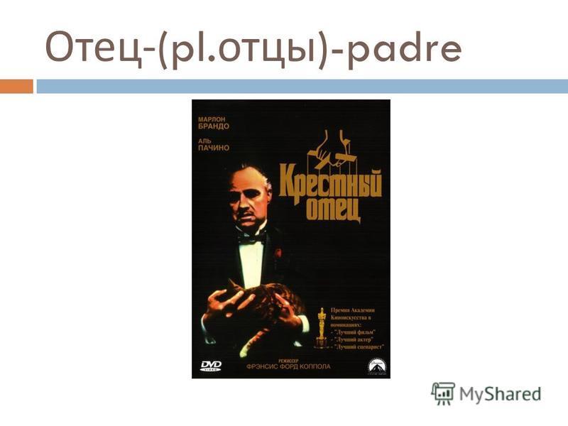 Отец -(pl. отцы )-padre