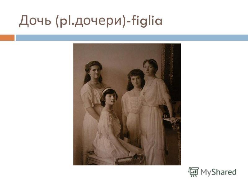Дочь (pl. дочери )-figlia