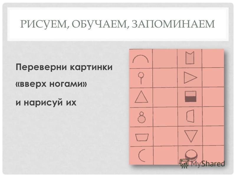 РИСУЕМ, ОБУЧАЕМ, ЗАПОМИНАЕМ Рассмотри рисунки Запомни три геометрические фигуры