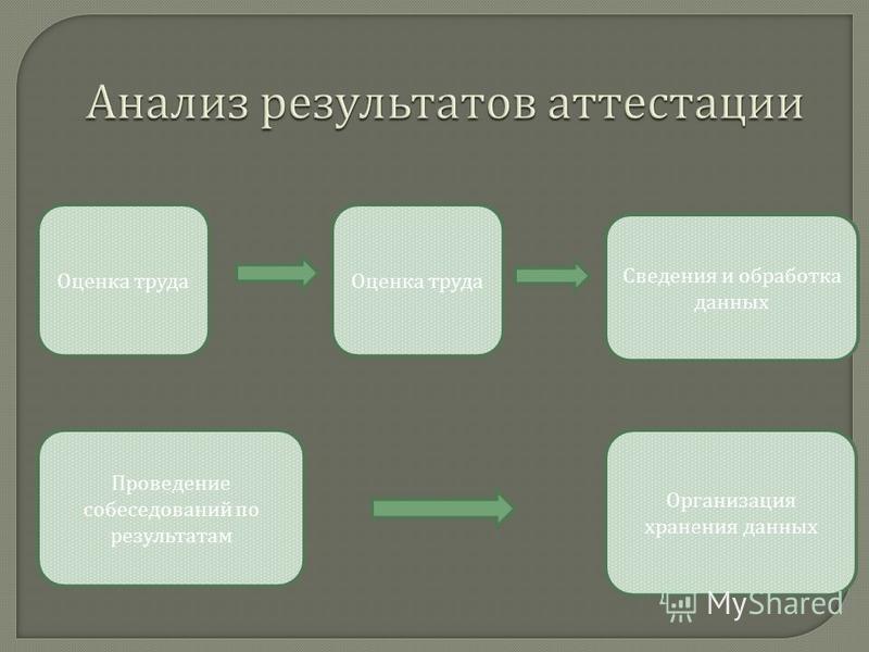 Оценка труда Сведения и обработка данных Проведение собеседований по результатам Организация хранения данных