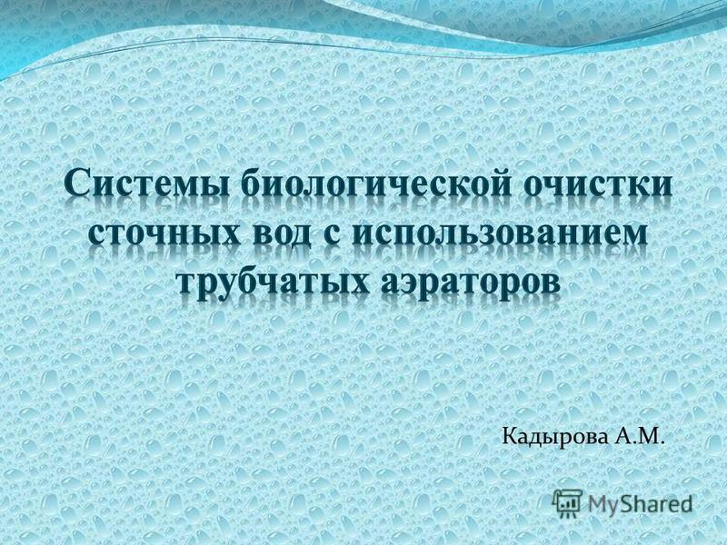 Кадырова А.М.