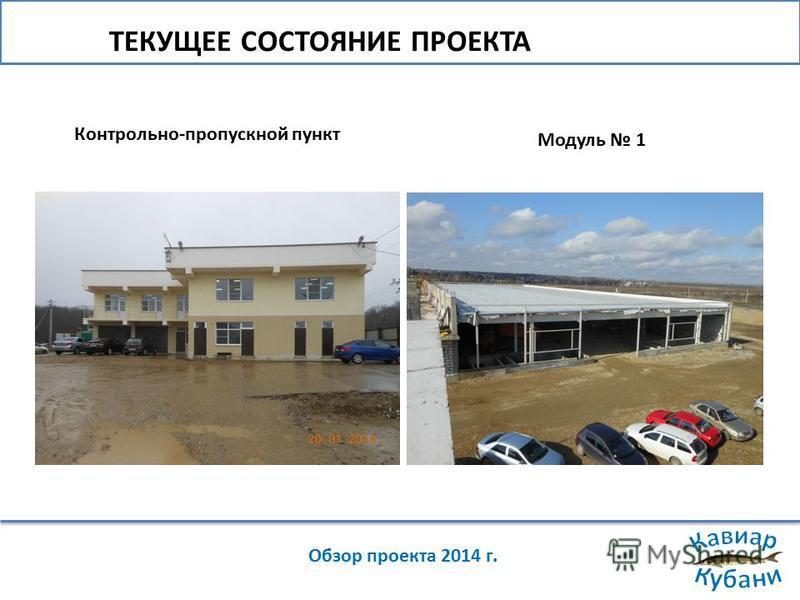 ТЕКУЩЕЕ СОСТОЯНИЕ ПРОЕКТА Обзор проекта 2014 г. Контрольно-пропускной пункт Модуль 1