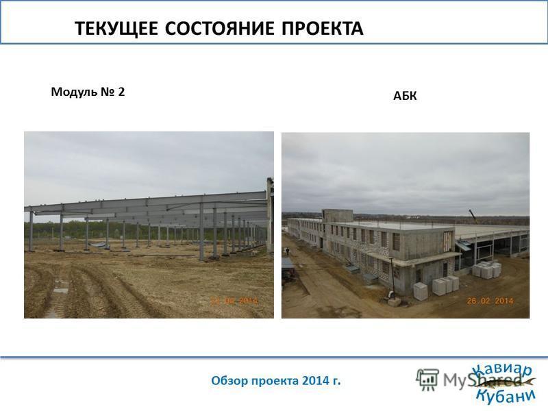 ТЕКУЩЕЕ СОСТОЯНИЕ ПРОЕКТА Обзор проекта 2014 г. Модуль 2 АБК