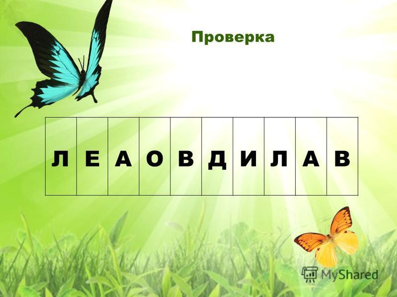 Проверка ЛЕАОВДИЛАВ