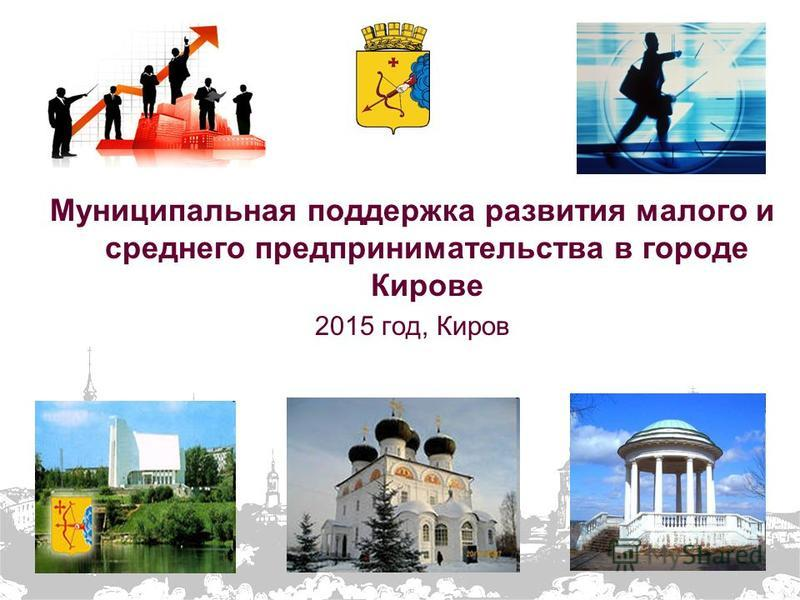 Муниципальная поддержка развития малого и среднего предпринимательства в городе Кирове 2015 год, Киров