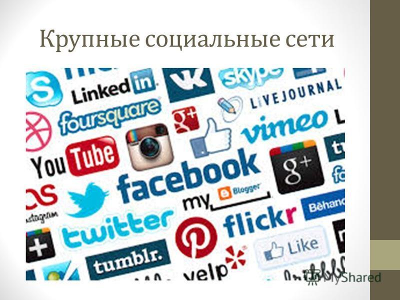 Крупные социальные сети