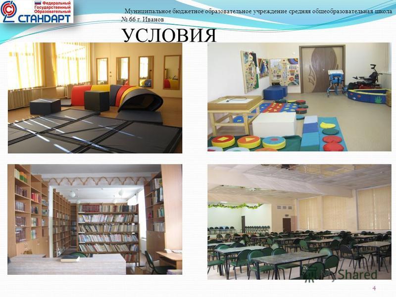 Муниципальное бюджетное образовательное учреждение средняя общеобразовательная школа 66 г. Иванов УСЛОВИЯ 4