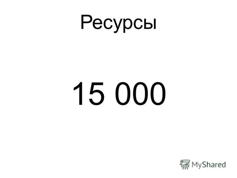 Ресурсы 15 000