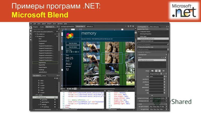 Примеры программ.NET: Microsoft Blend