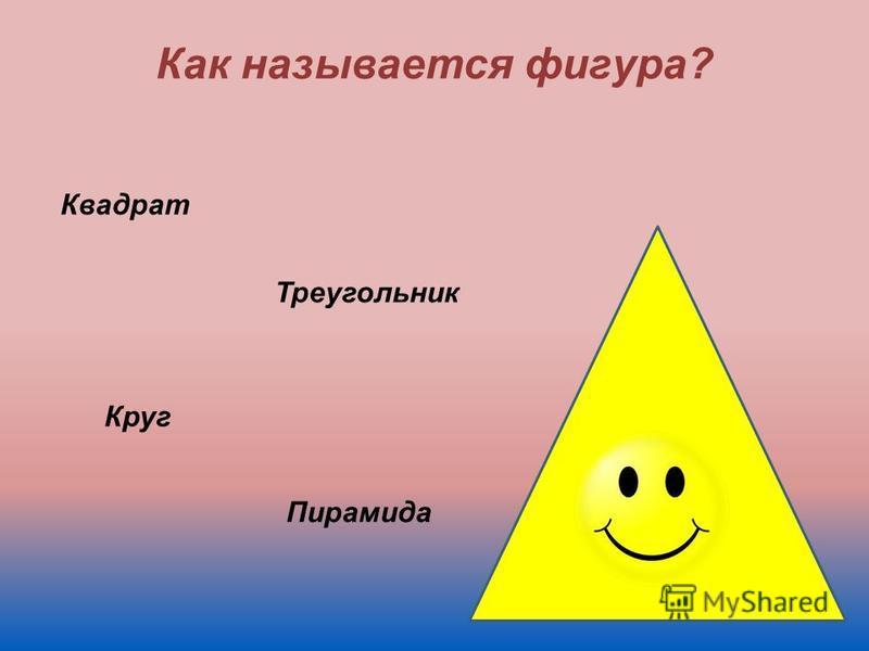 Как называется фигура? Квадрат Треугольник Круг Пирамида