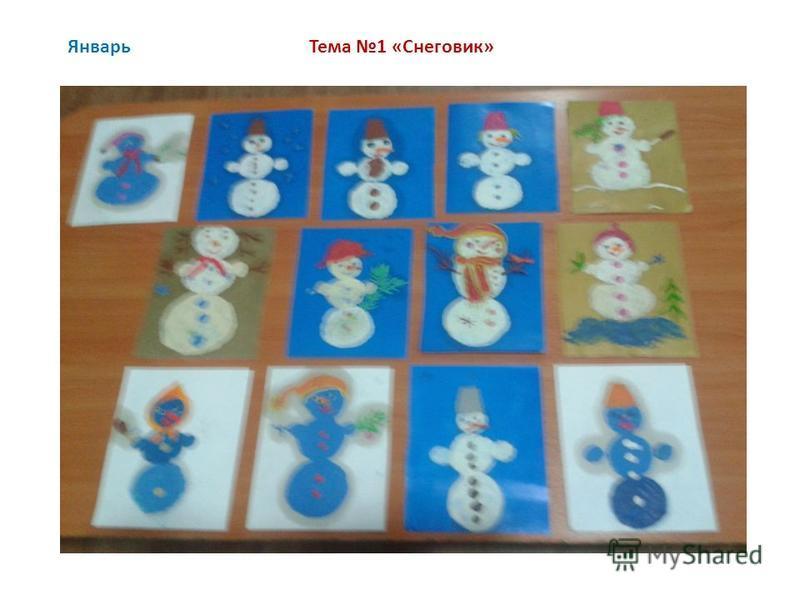 Январь Тема 1 «Снеговик»