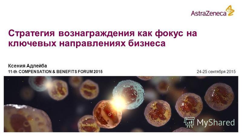 Стратегия вознаграждения как фокус на ключевых направлениях бизнеса Ксения Адлейба 11-th COMPENSATION & BENEFITS FORUM 2015 24-25 сентября 2015