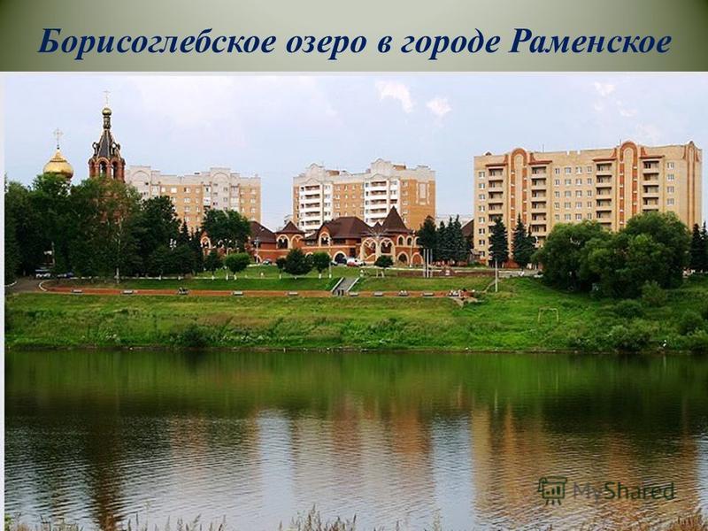 Борисоглебское озеро в городе Раменское