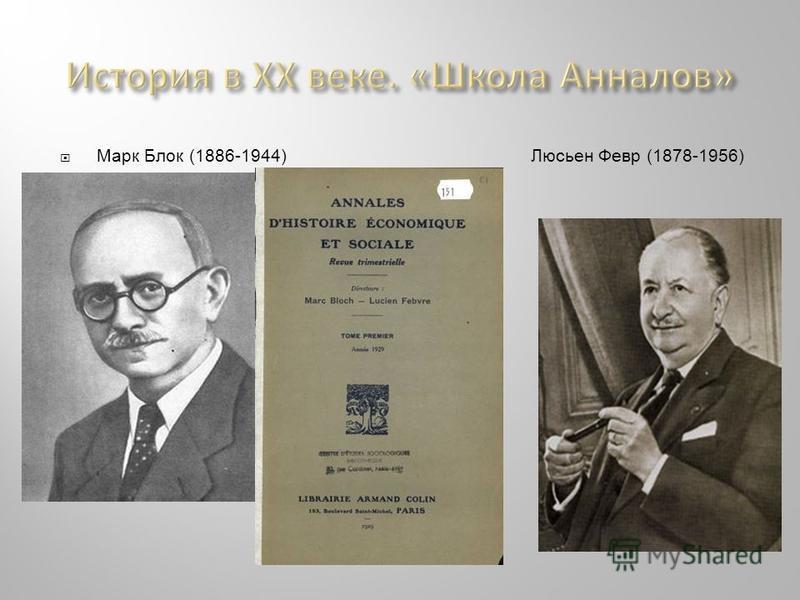 Марк Блок (1886-1944) Люсьен Февр (1878-1956)