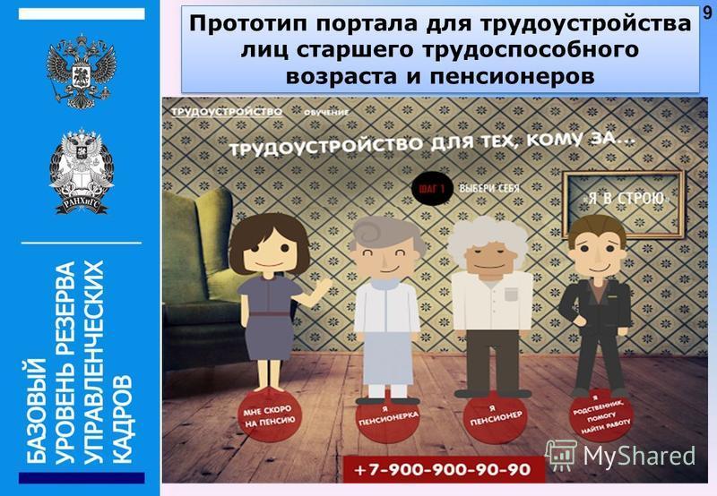 Прототип портала для трудоустройства лиц старшего трудоспособного возраста и пенсионеров 9