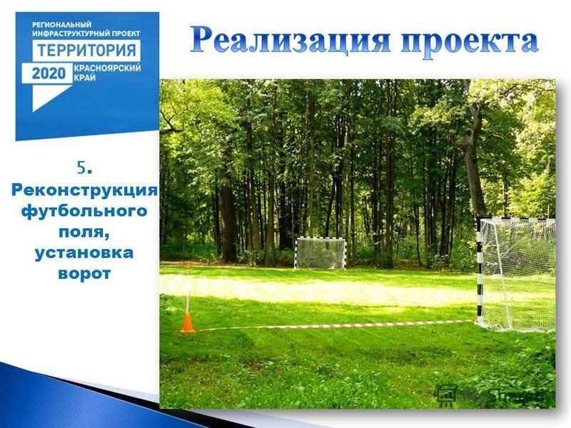 5. Реконструкция футбольного поля, установка ворот