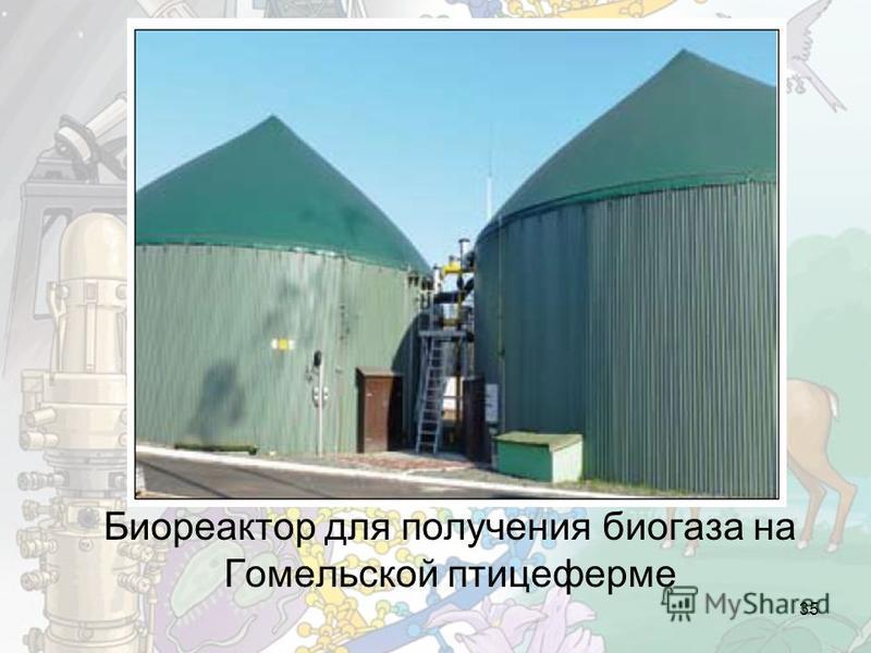Биореактор для получения биогаза на Гомельской птицеферме 35