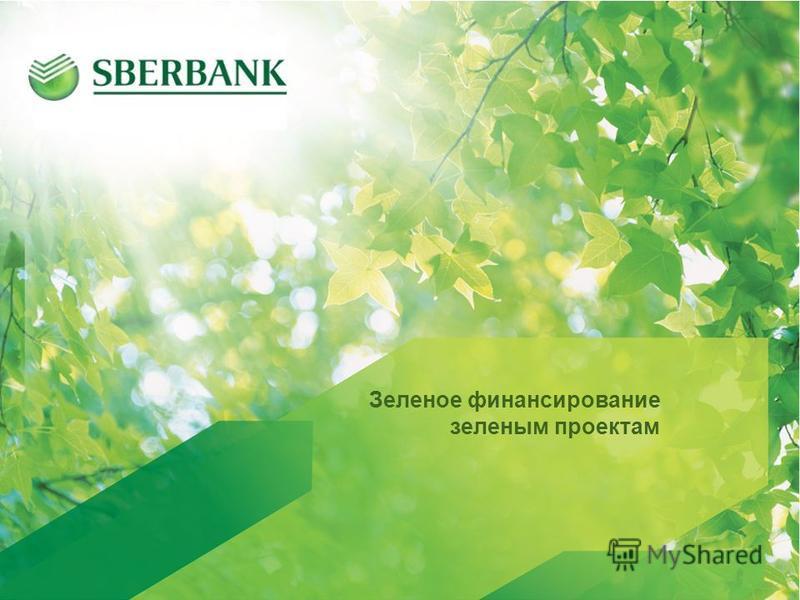 1 1 Зеленое финансирование зеленым проектам