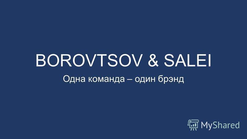 BOROVTSOV & SALEI Одна команда – один брэнд