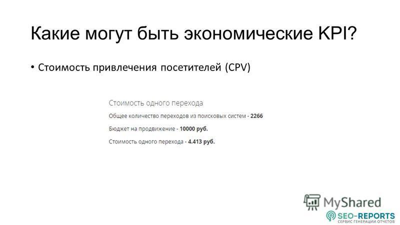 Стоимость привлечения посетителей (CPV)