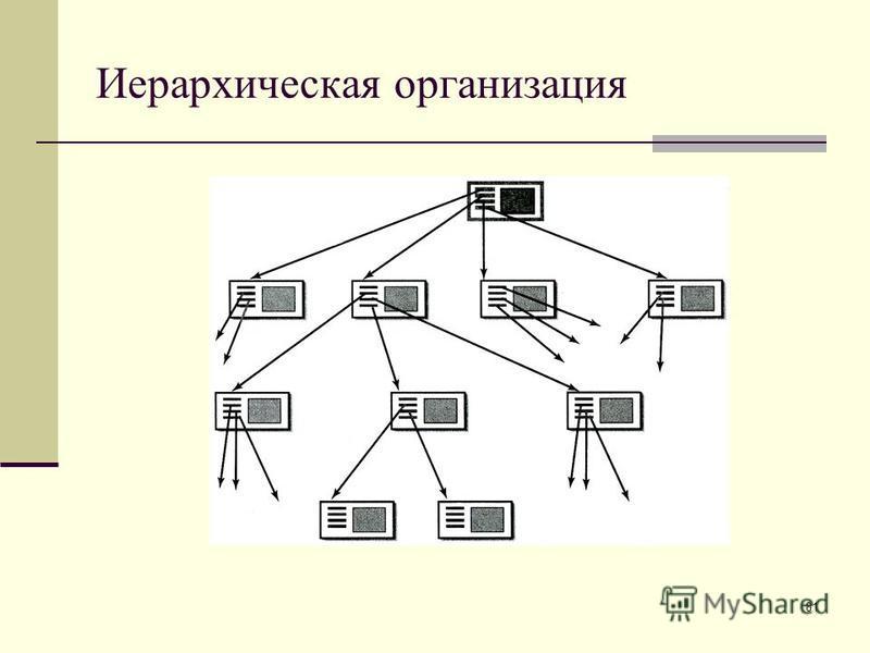 81 Иерархическая организация