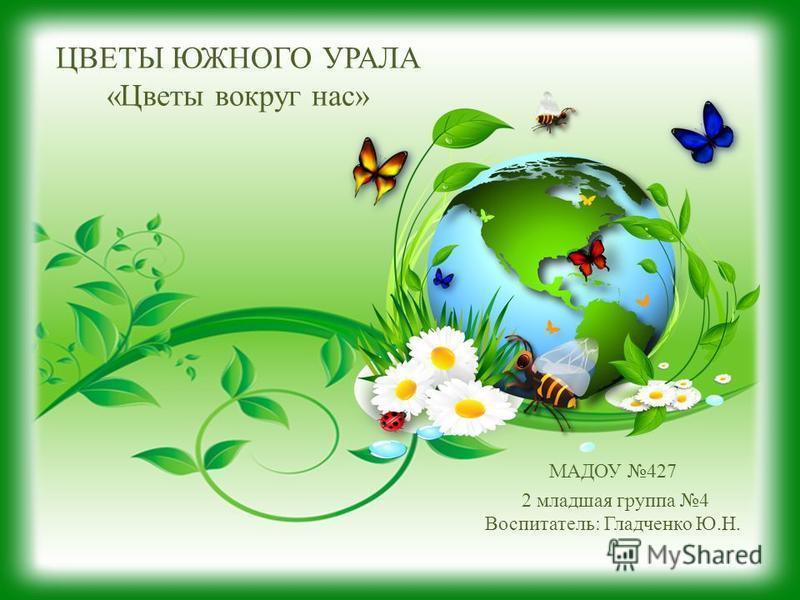 ЦВЕТЫ ЮЖНОГО УРАЛА «Цветы вокруг нас» МАДОУ 427 2 младшая группа 4 Воспитатель: Гладченко Ю.Н.