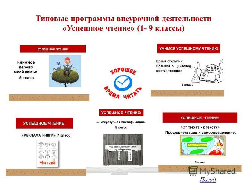Типовые программы внеурочной деятельности «Успешное чтение» (1- 9 классы) Назад