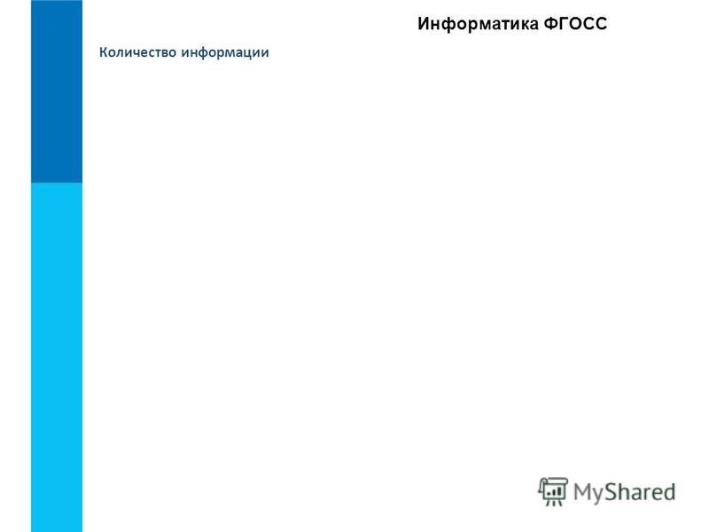 Информатика ФГОСС Количество информации
