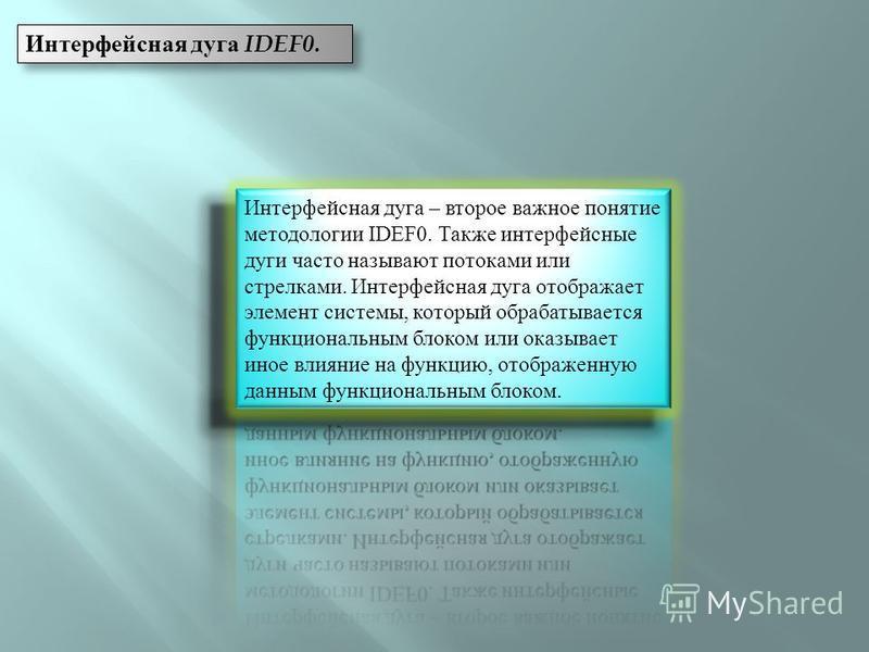 Интерфейсная дуга IDEF0.