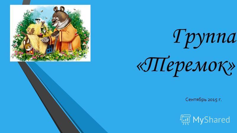 Группа «Теремок» Сентябрь 2015 г.