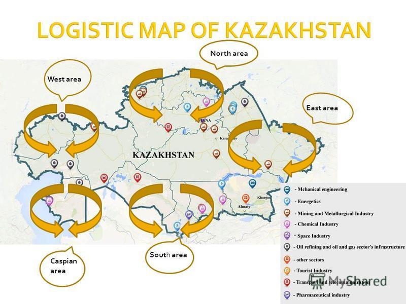 Caspian area West area South area East area North area